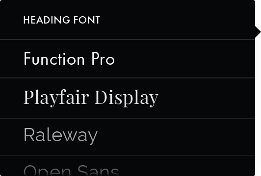 Fonts Sample List