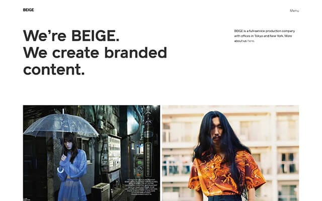 BEIGE | Production company, Tokyo and New York