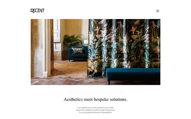 Recent – Upholstery, shading systems & curtains