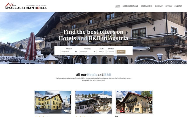 Hotels and B&B in Austria - Cosy Small hotels in the alps